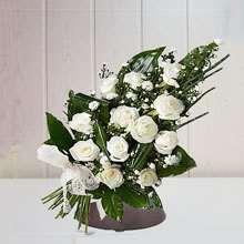 Ramos funerarios blanco